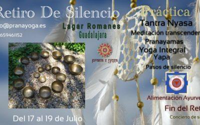17 al 19 de Julio – Retiro de Silencio y alimentación Ayurveda
