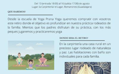 Agosto 2021 – Retiro en familia y Retiro de Yoga para adultos «Tu interior nos importa»