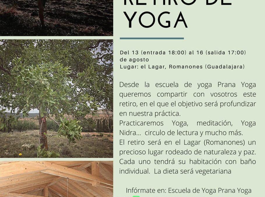 13 al 16 de agosto: Retiro de Yoga en Romanones