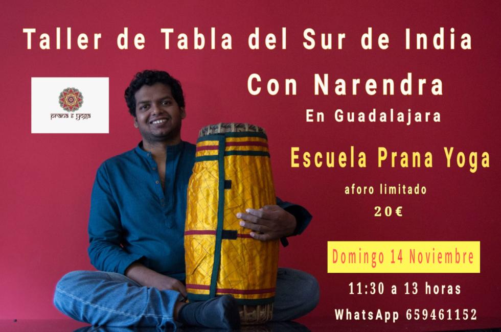 14 Noviembre 2021 – Workshop de Tabla del Sur de India